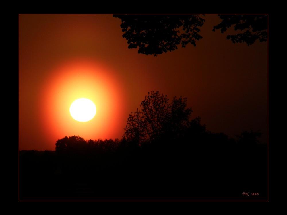 Sonnenuntergang der Spitzenklasse