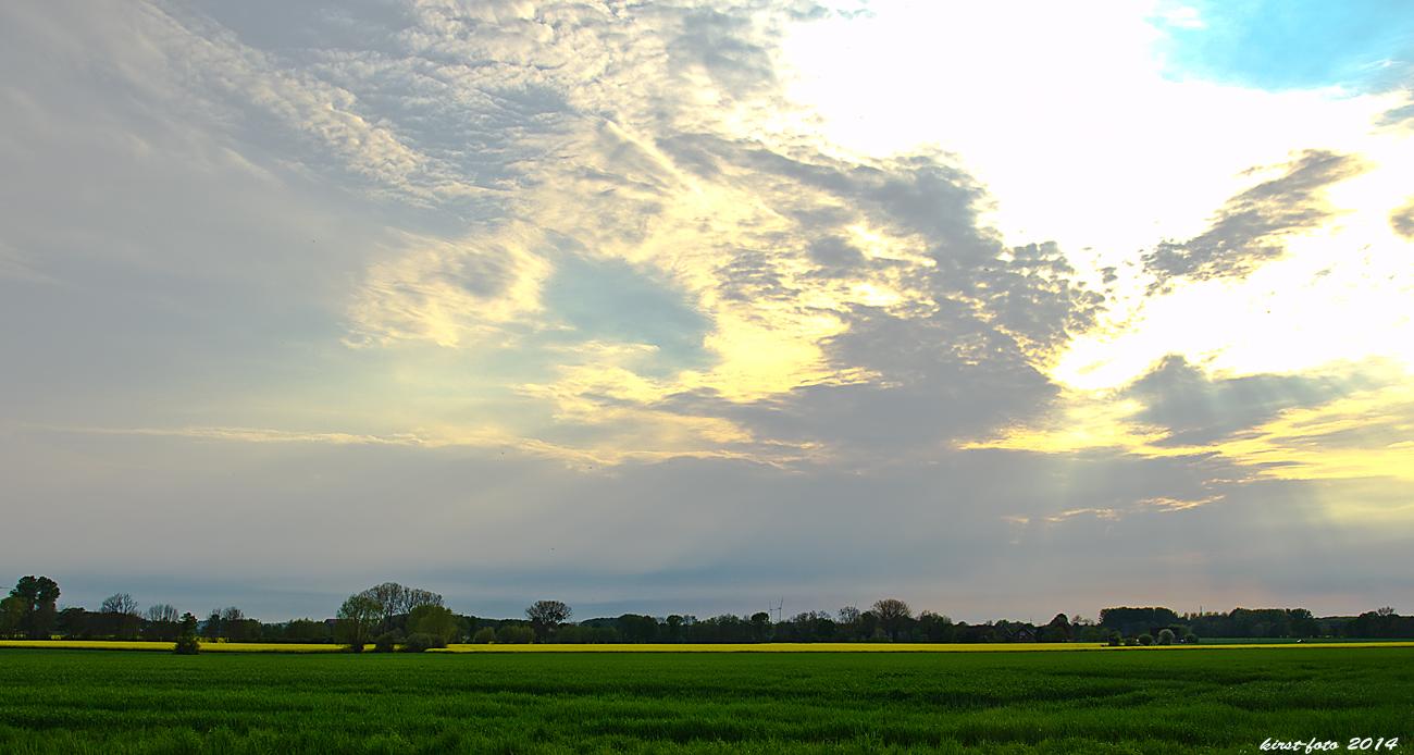 Sonnenuntergang der zarten Art.