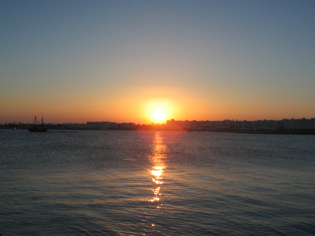 Sonnenuntergang Djerba-Tunesien