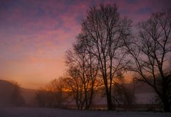 Sonnenuntergang Donautal