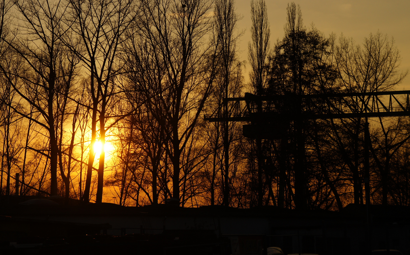Sonnenuntergang, Dortmund Lindenhorst