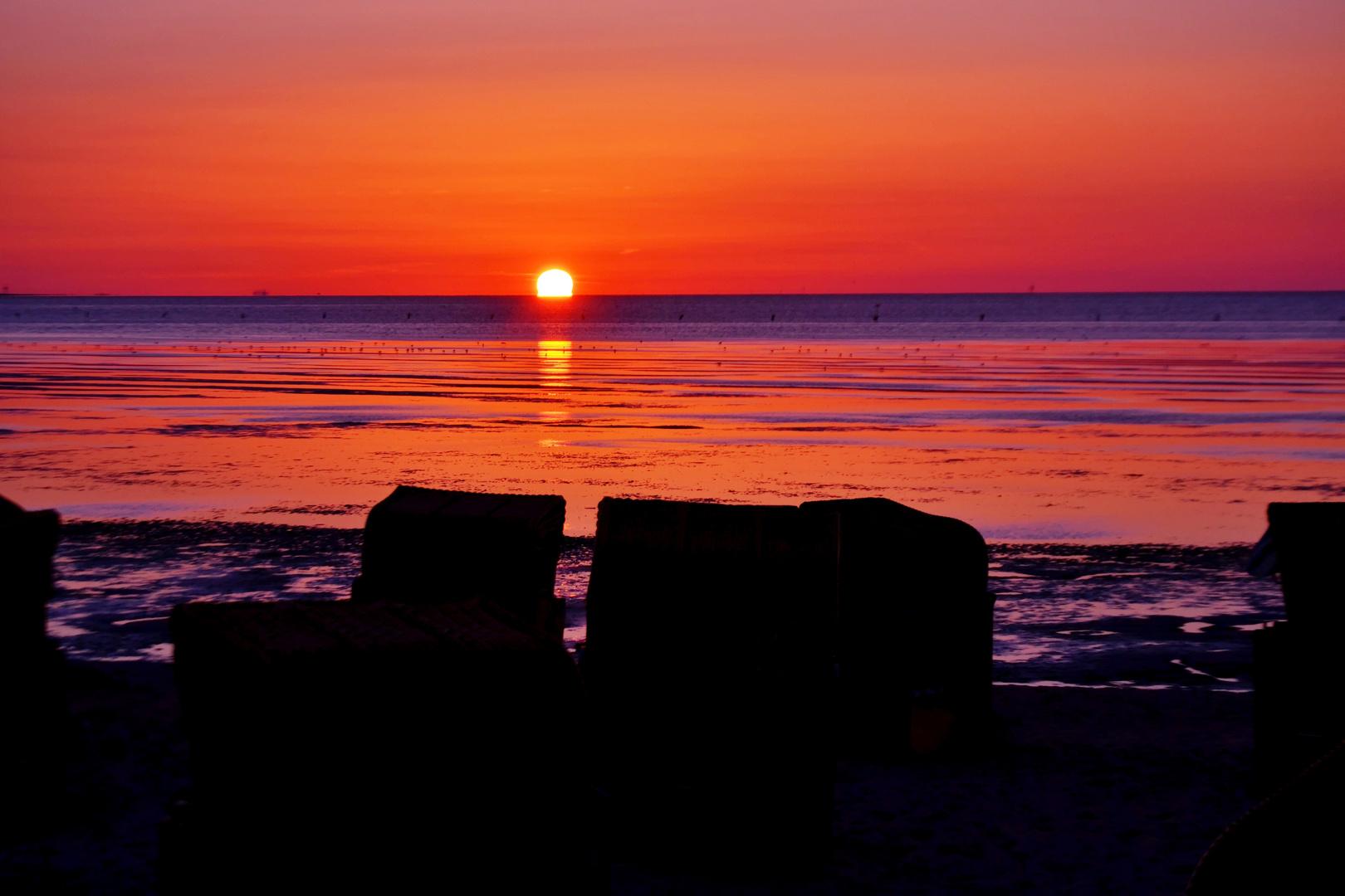 Sonnenuntergang Duhnen