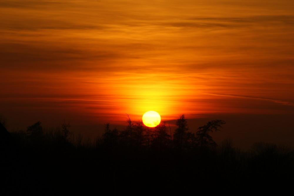 Sonnenuntergang einmalig