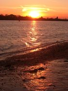 Sonnenuntergang Elbstrand Hamburg