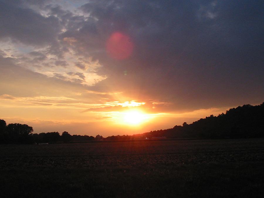 Sonnenuntergang Ende Juli