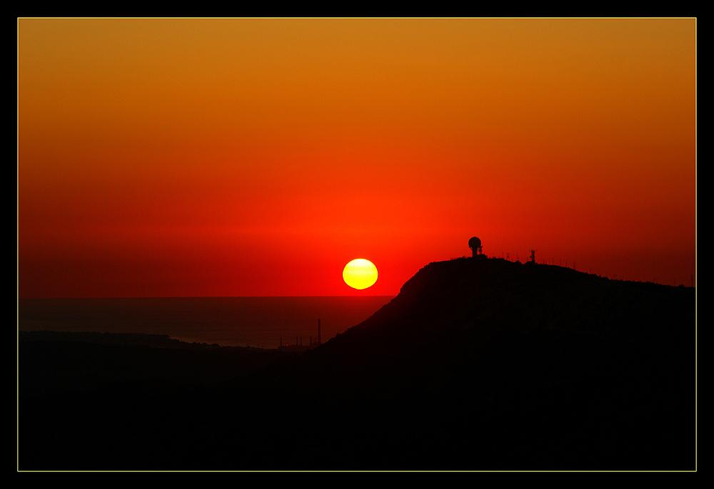 Sonnenuntergang Filerimos