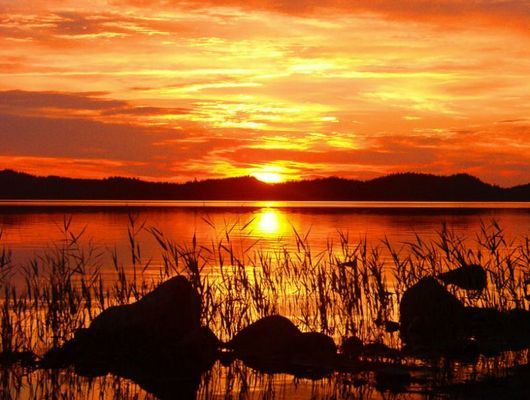 Sonnenuntergang Finnland