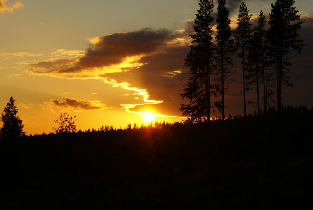 Sonnenuntergang Finnland von Karin Scheuerpflug