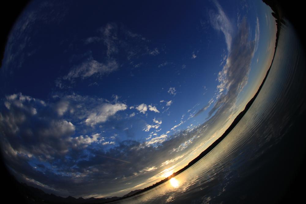 Sonnenuntergang - Fisheye