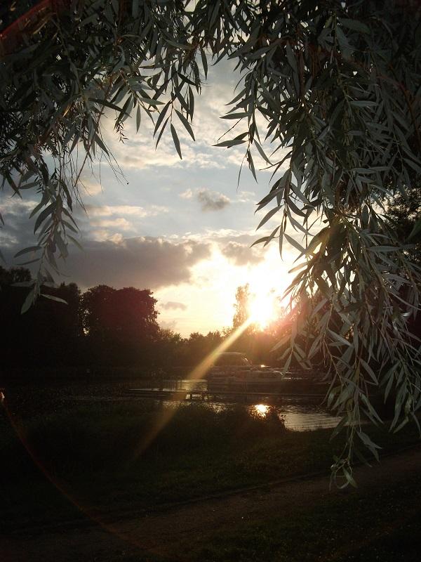 Sonnenuntergang Fluss