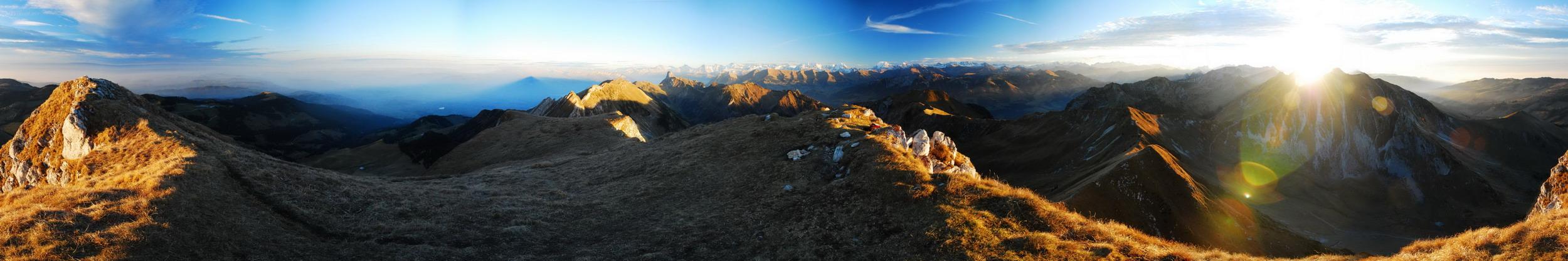 Sonnenuntergang Gantrisch 360°