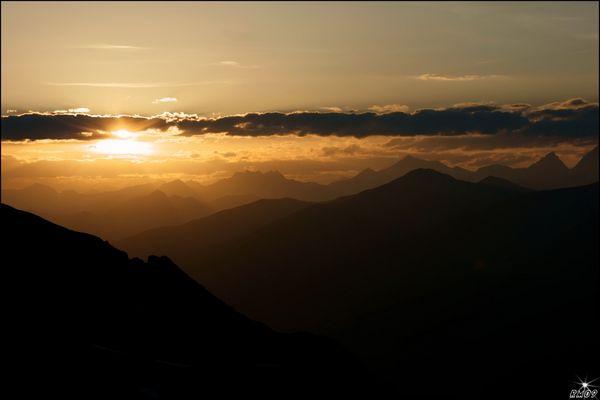 Sonnenuntergang ganz im Osten Südtirols