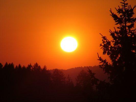 Sonnenuntergang ganz nah