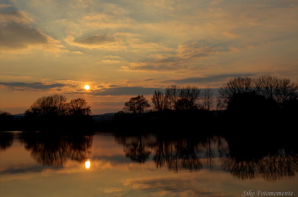Sonnenuntergang gespiegelt