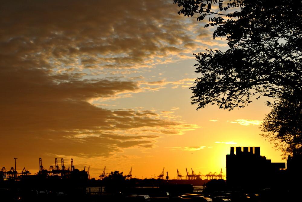 Sonnenuntergang Hafencity_2