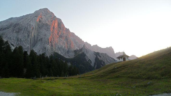 Sonnenuntergang Hallerangeralm (Karwendel)