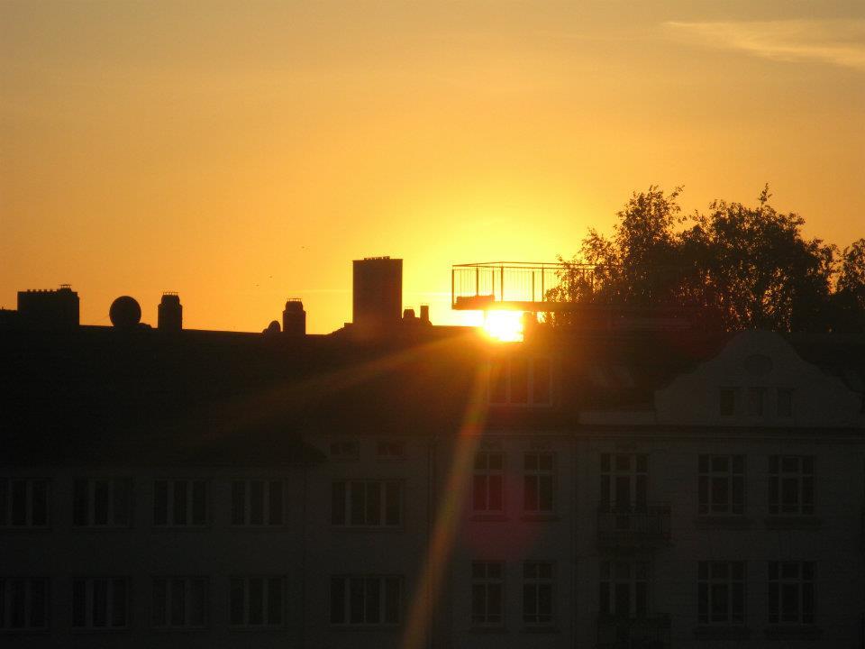 Sonnenuntergang Hamburg Altona 2010