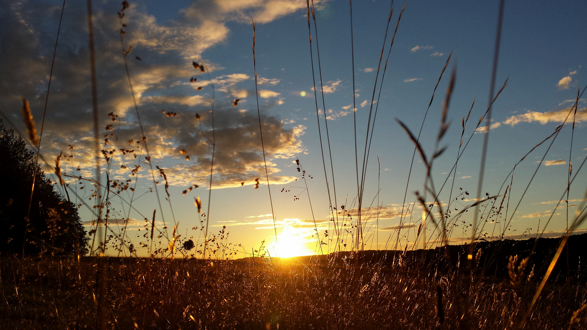 Sonnenuntergang Heroldstatt