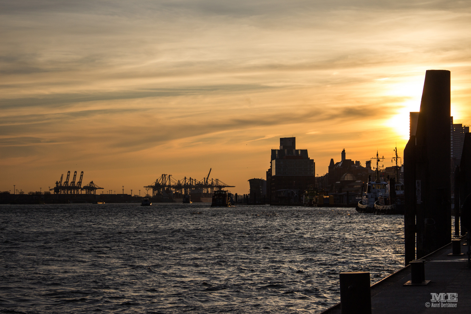 Sonnenuntergang HH Hafen