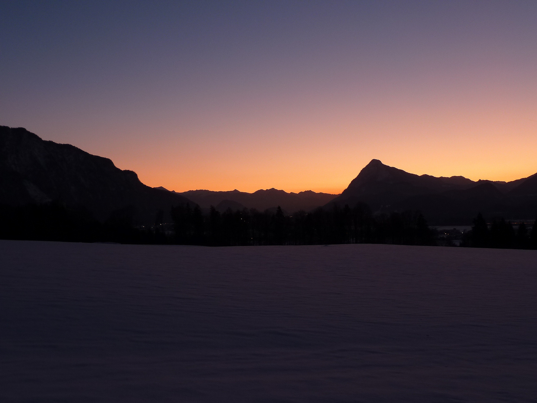 Sonnenuntergang hinter dem Pendling