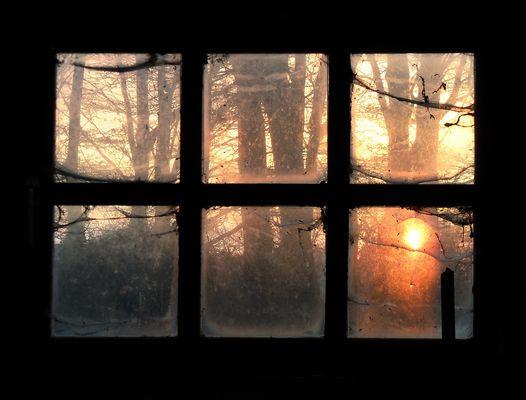 Sonnenuntergang hinter´m Schuppen