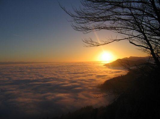 Sonnenuntergang. Höchiflue im Dezember 04