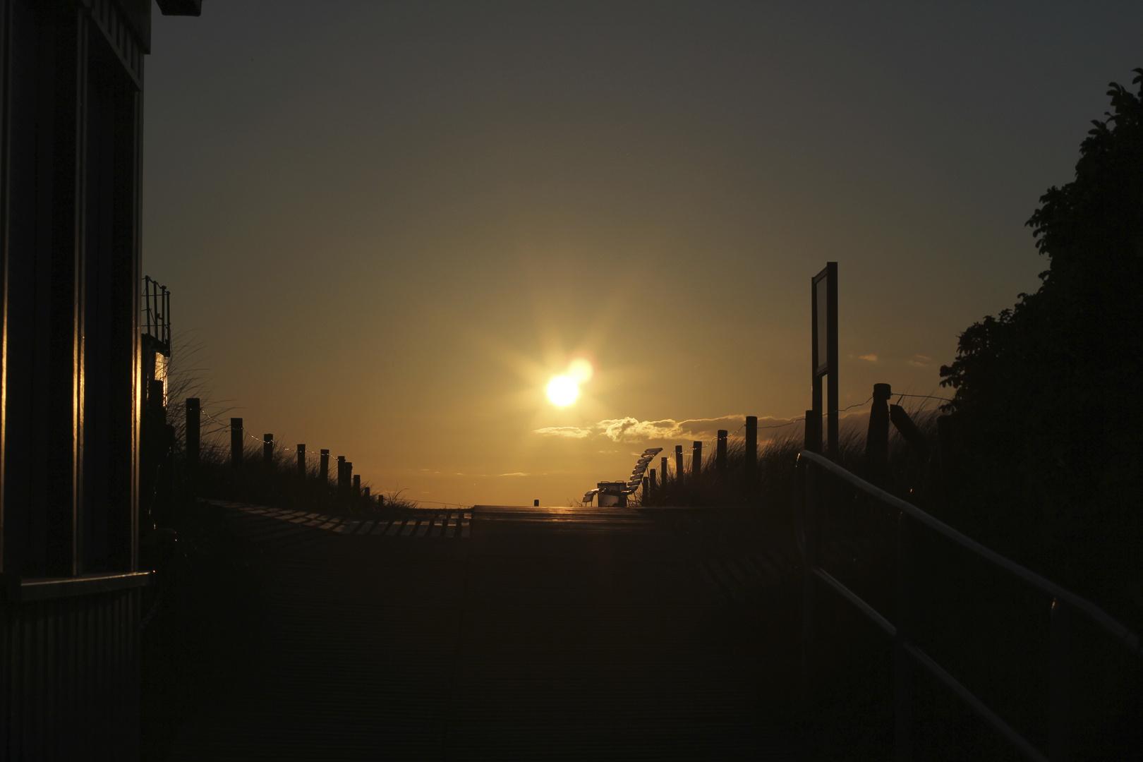 - Sonnenuntergang Hohe Düne -