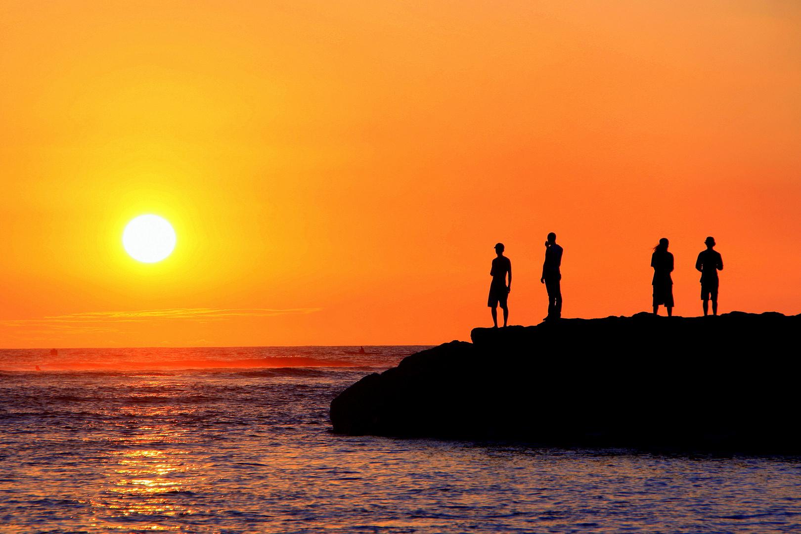 Sonnenuntergang Honolulu Hawaii