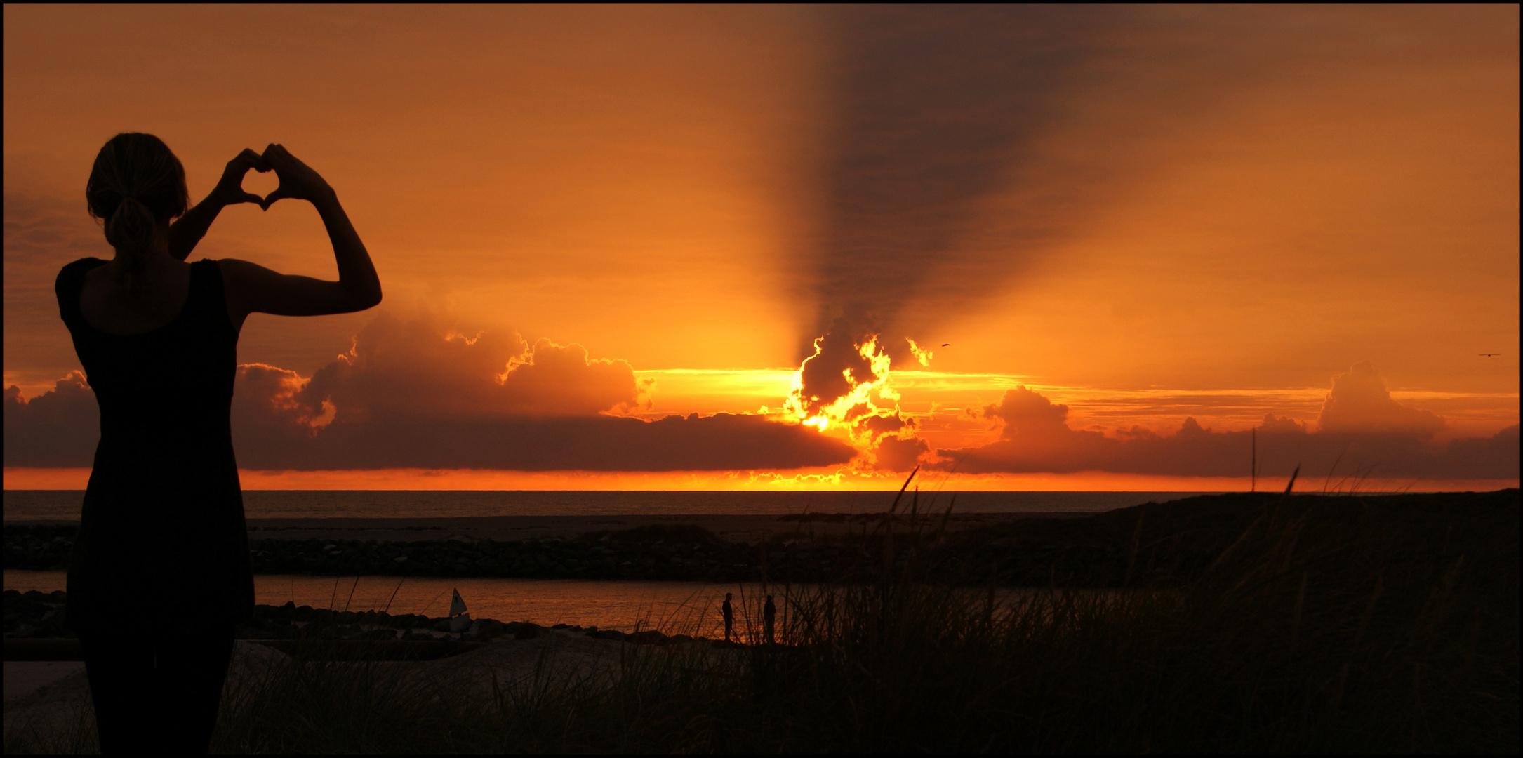 Sonnenuntergang. Hvide Sande.*-*
