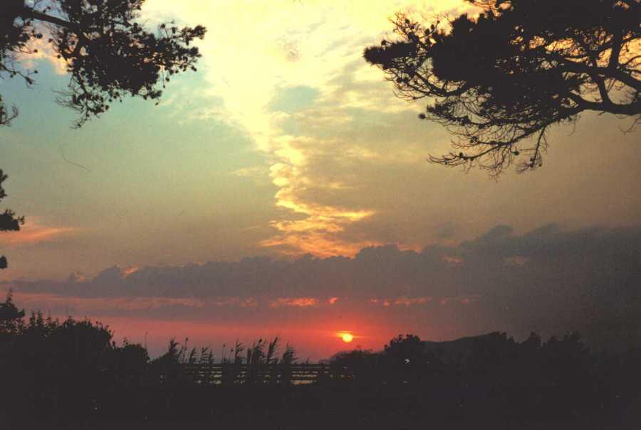Sonnenuntergang, Hyeres, Frankreich