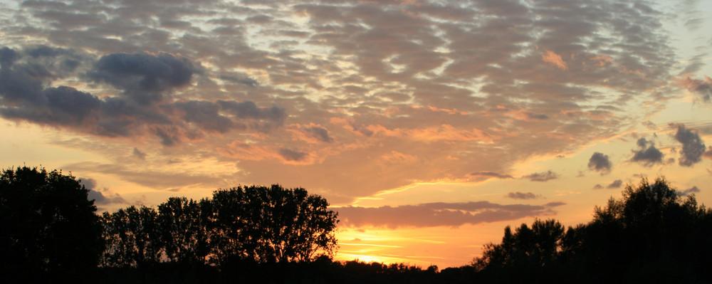 Sonnenuntergang II in Werne/Stockum