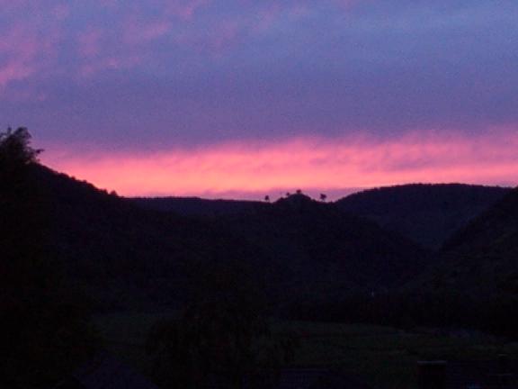 Sonnenuntergang im Ahrtal
