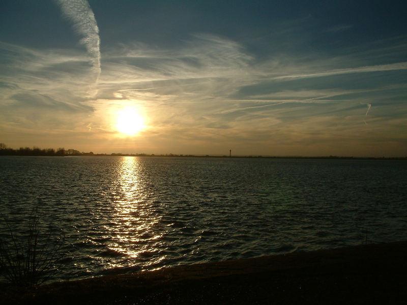 Sonnenuntergang im Alten Land