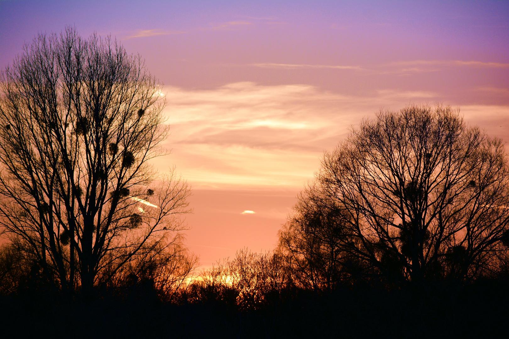 Sonnenuntergang - im April 2013 :-)