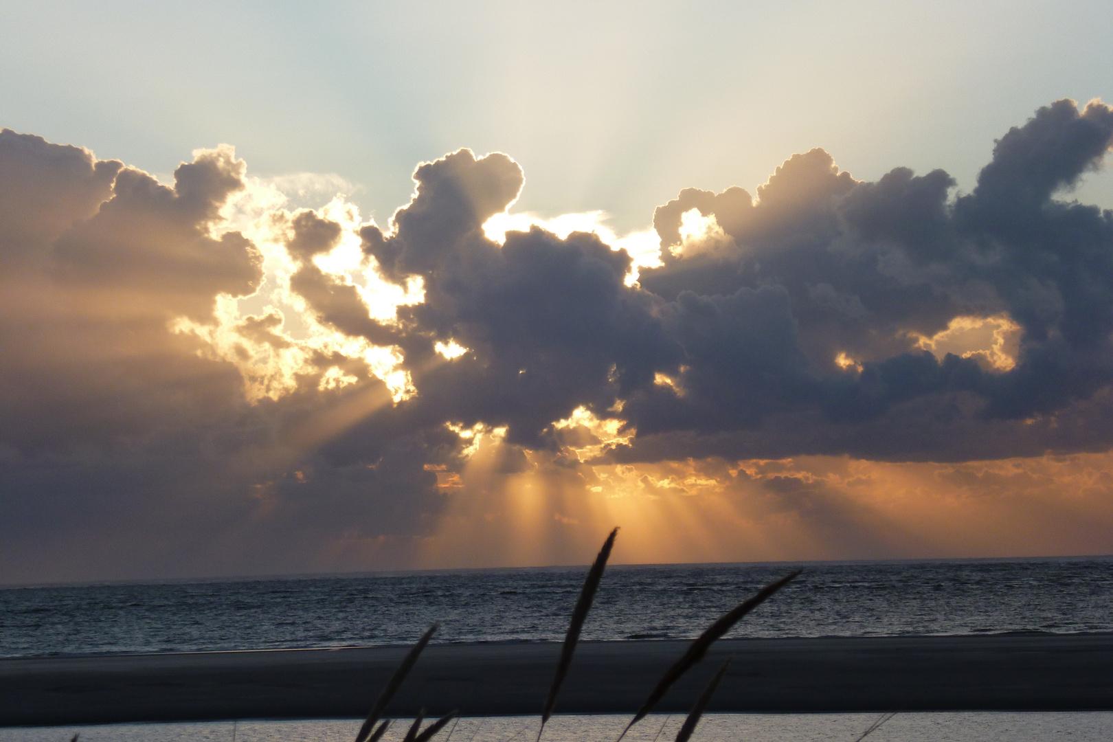 Sonnenuntergang im August 2o14 auf Langeoog