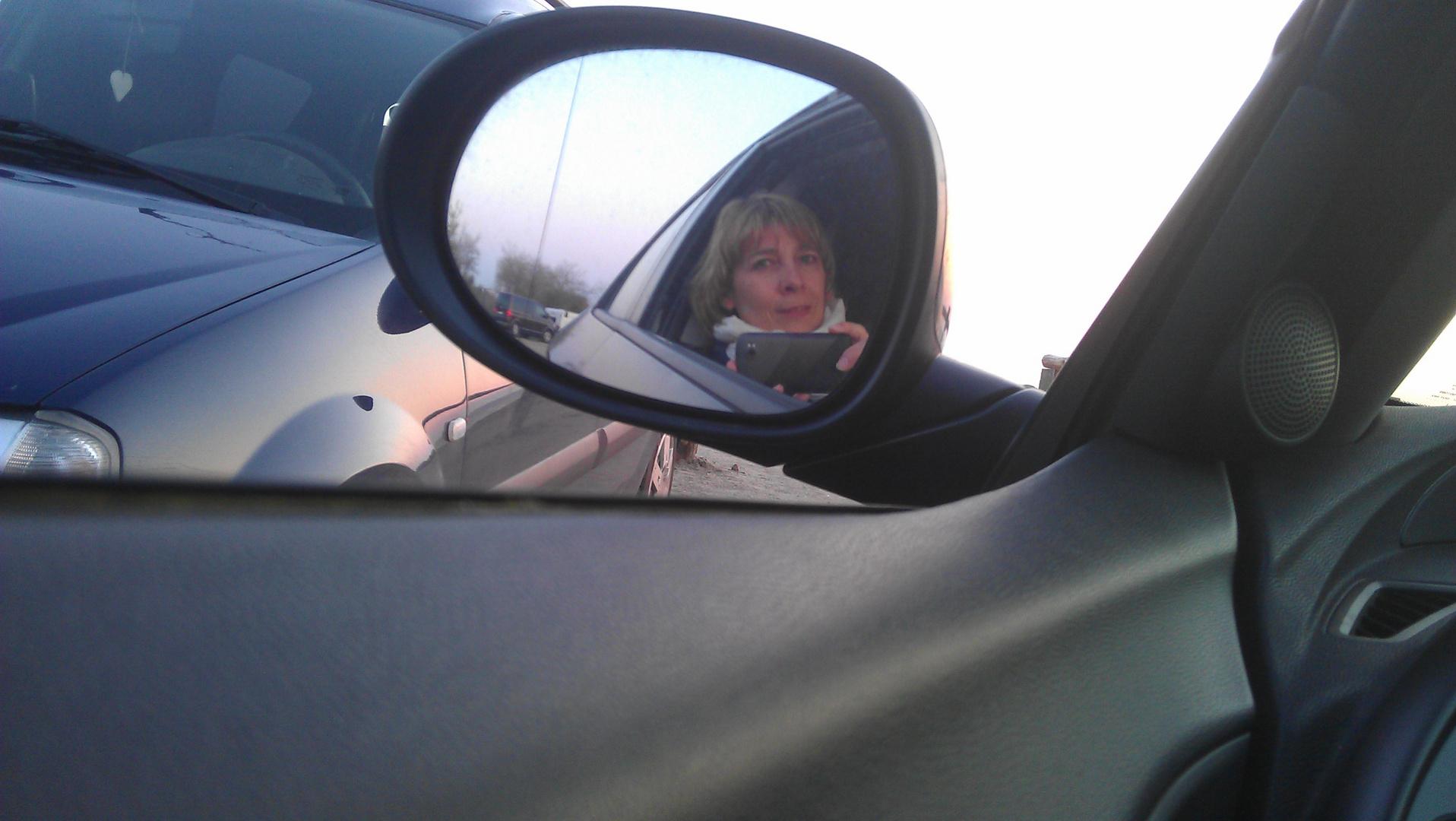 Sonnenuntergang im Auto