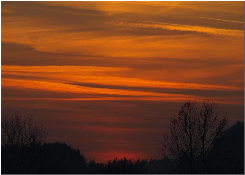 Sonnenuntergang im Bergischen