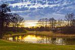 Sonnenuntergang im Britzer Garten