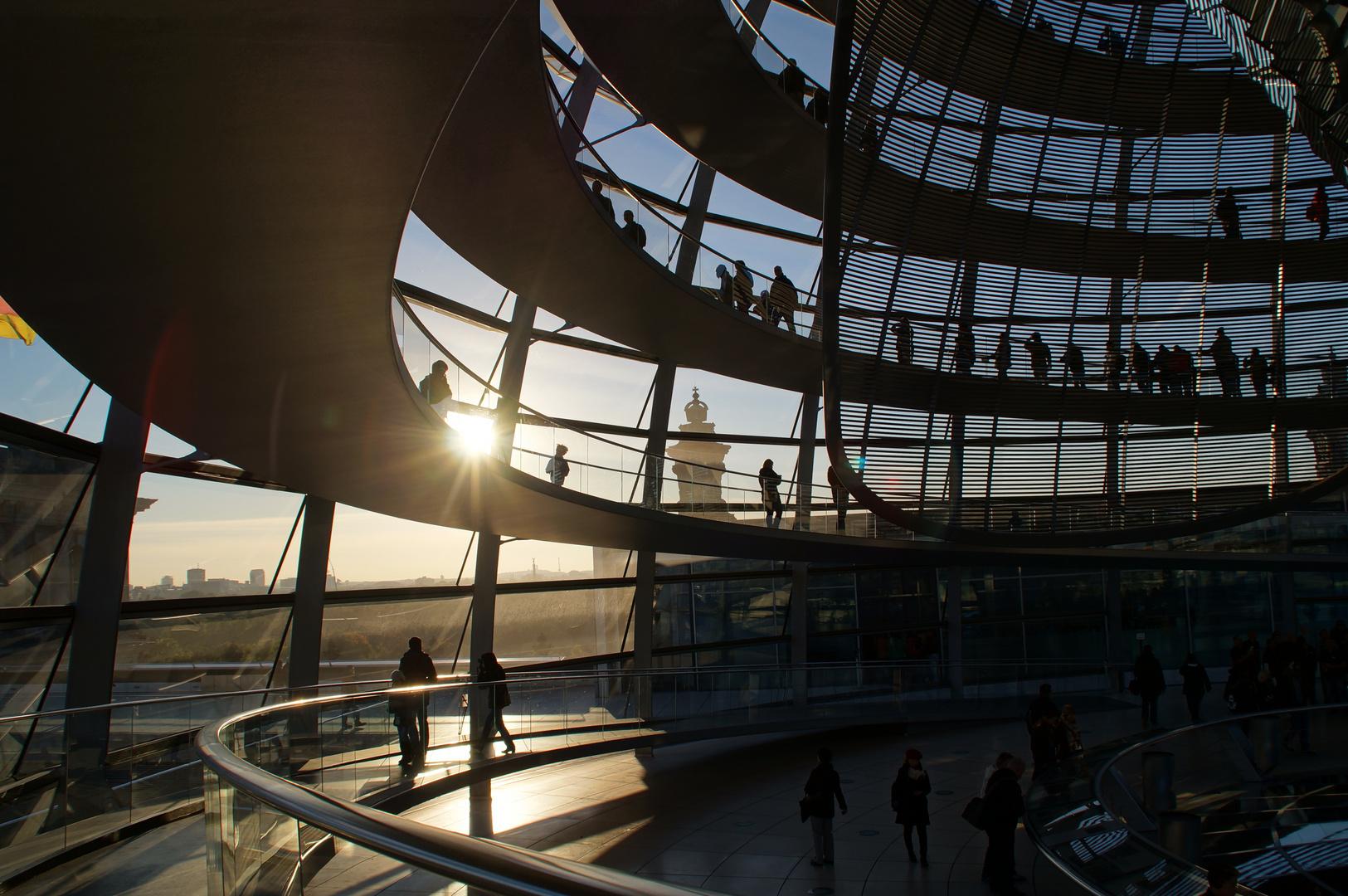 Sonnenuntergang im Bundestag