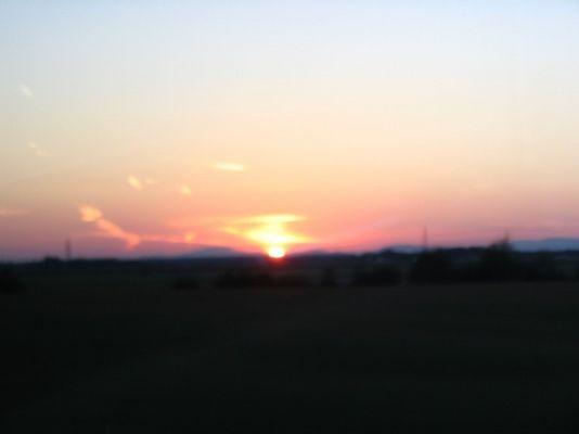 Sonnenuntergang im Burgenland