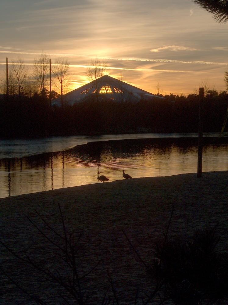 Sonnenuntergang im Centerparc