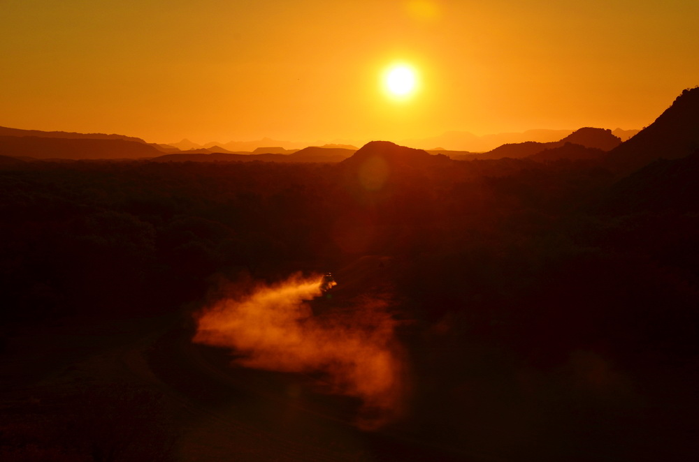Sonnenuntergang im Damaraland