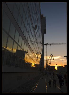 Sonnenuntergang im Düsseldorfer Medienhafen I