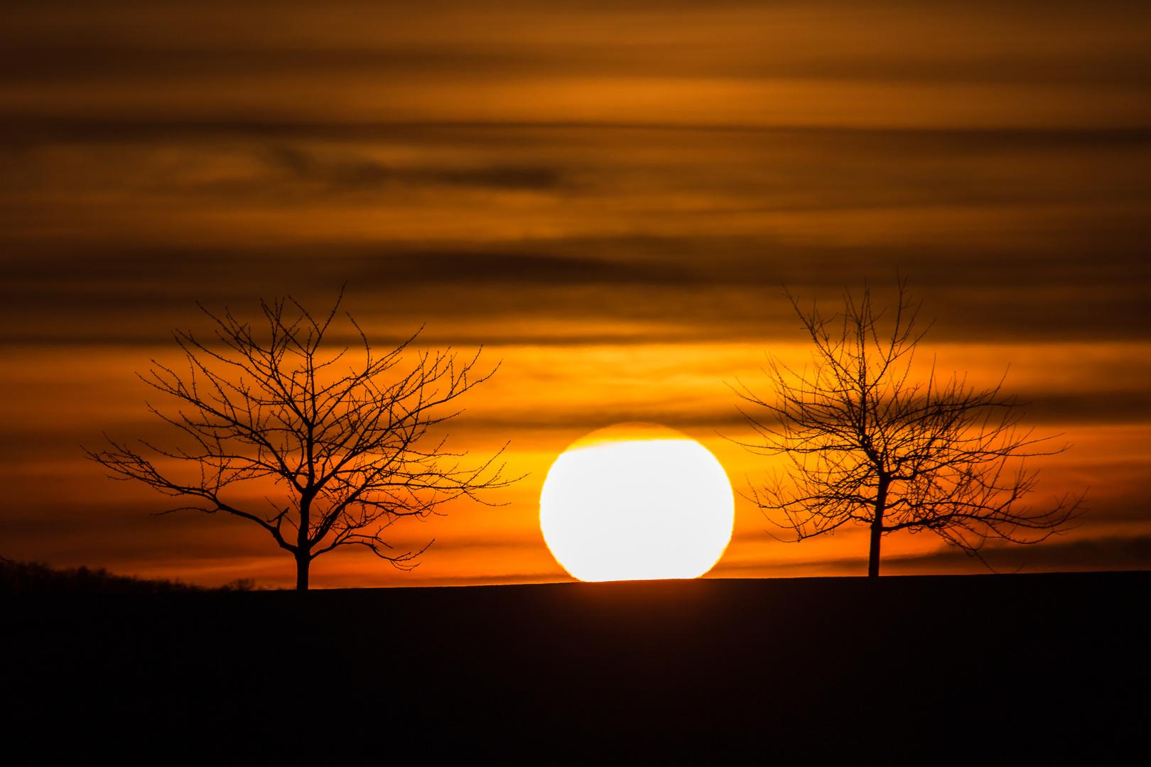 Sonnenuntergang im Eichsfeld