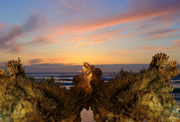Sonnenuntergang im Fantasialand