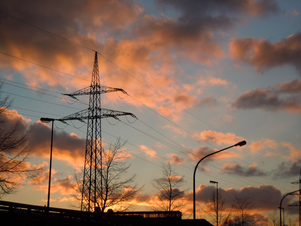 Sonnenuntergang im Feburar