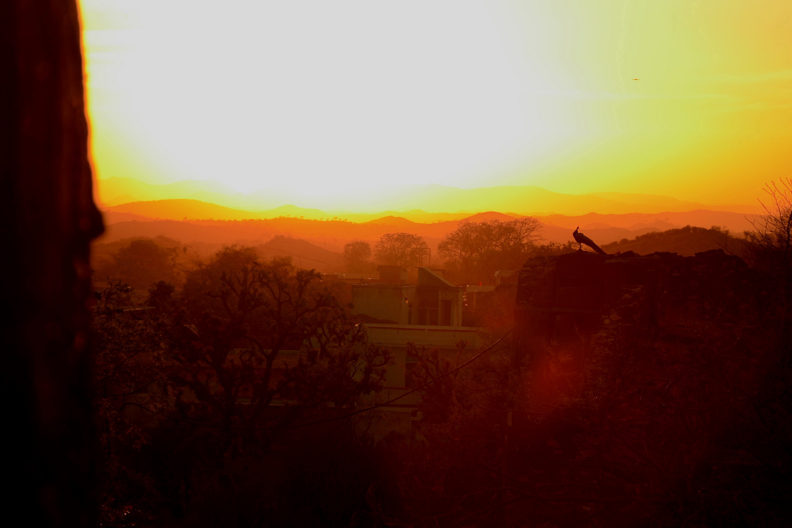 Sonnenuntergang im Fort Karni