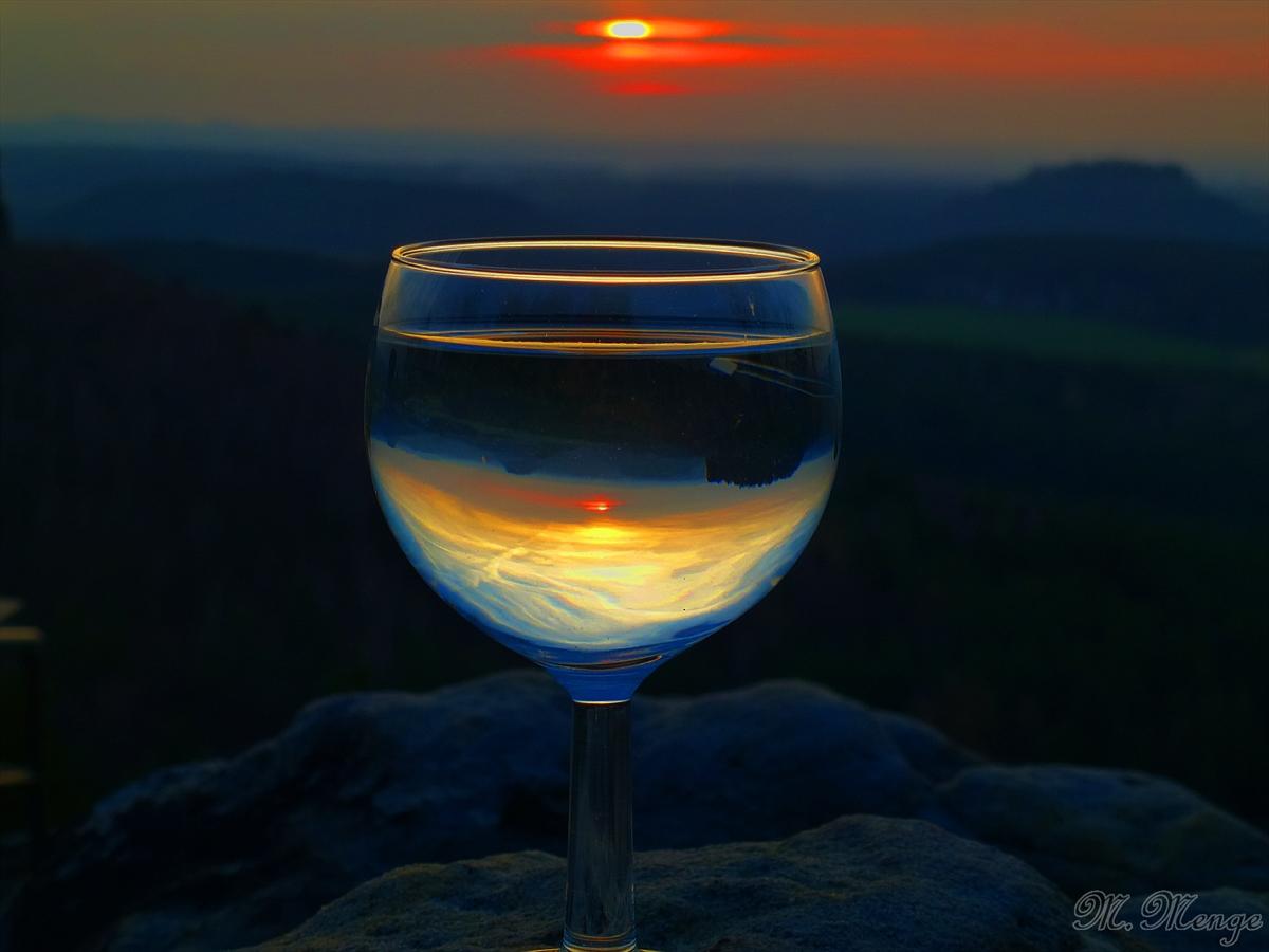 Sonnenuntergang im Glas.