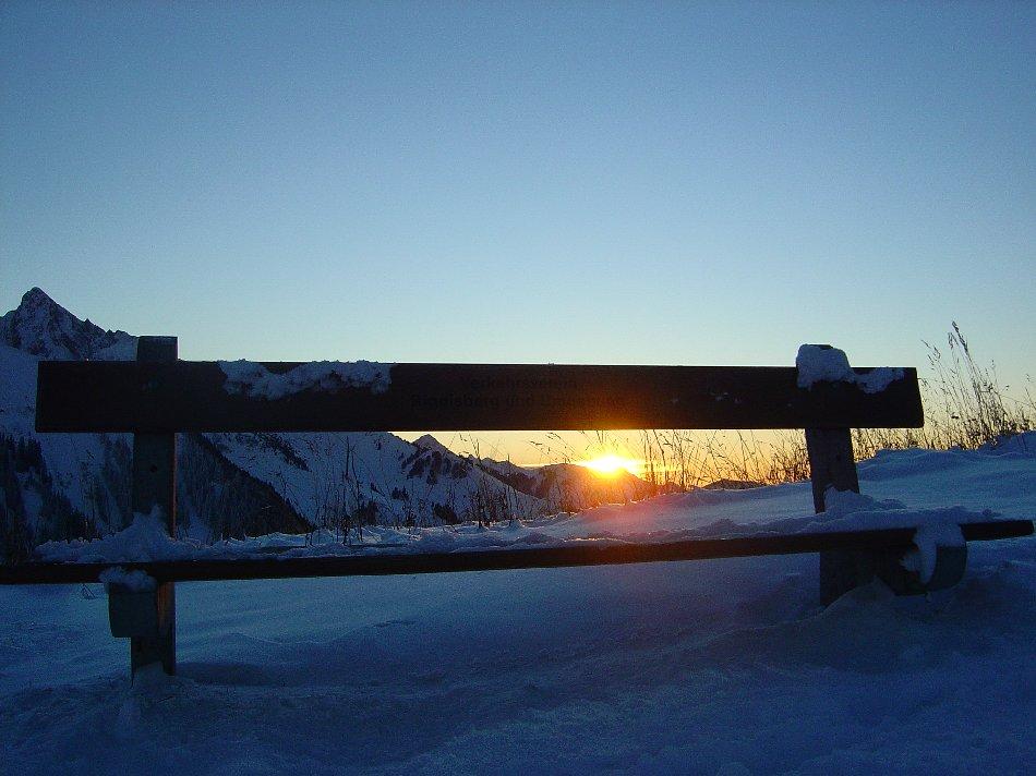 Sonnenuntergang im Gurnigel (Bern)