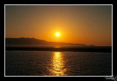 Sonnenuntergang im Hafen von Heraklion